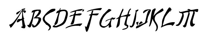 Bushido Italic Font UPPERCASE
