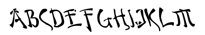 Bushido Leftalic Font UPPERCASE