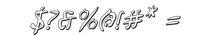 Bushido Shadow Italic Font OTHER CHARS