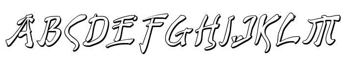 Bushido Shadow Italic Font LOWERCASE