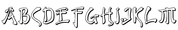 Bushido Shadow Font LOWERCASE