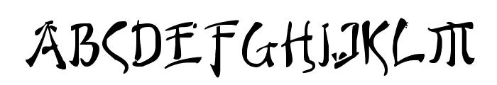 Bushido Font UPPERCASE