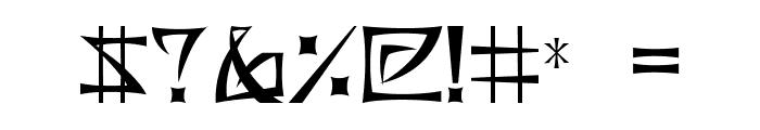 BushidoType Font OTHER CHARS