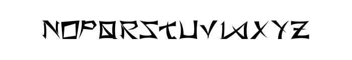 BushidoType Font LOWERCASE