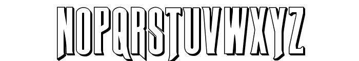 Butch & Sundance 3D Regular Font UPPERCASE
