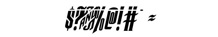 Butch & Sundance Bullet Italic Font OTHER CHARS
