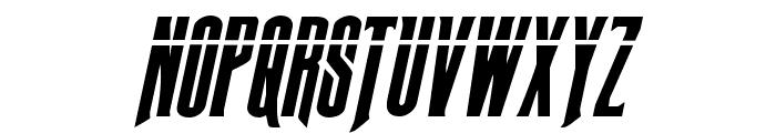 Butch & Sundance Bullet Italic Font UPPERCASE