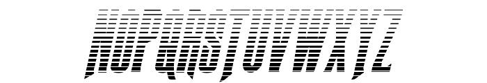 Butch & Sundance Gradient Italic Font UPPERCASE