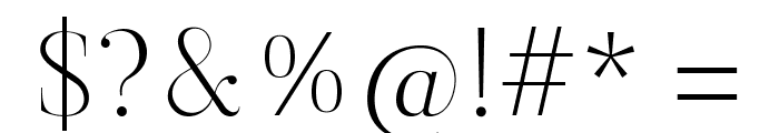 Butler-UltraLight Font OTHER CHARS