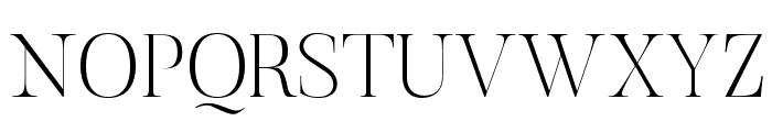 Butler-UltraLight Font UPPERCASE