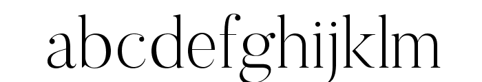 Butler-UltraLight Font LOWERCASE