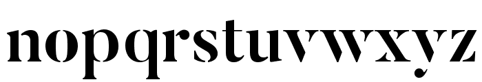ButlerStencil-Bold Font LOWERCASE