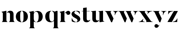 ButlerStencil-ExtraBold Font LOWERCASE