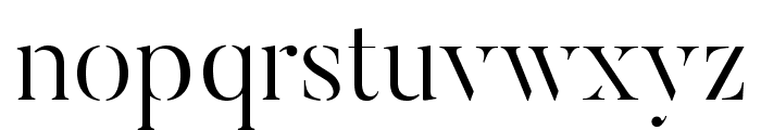 ButlerStencil-Light Font LOWERCASE