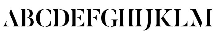 ButlerStencil-Medium Font UPPERCASE