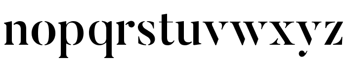 ButlerStencil-Medium Font LOWERCASE