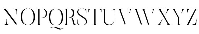 ButlerStencil-UltraLight Font UPPERCASE