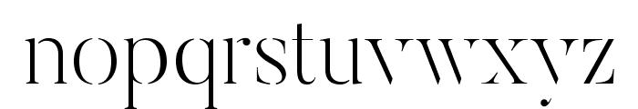 ButlerStencil-UltraLight Font LOWERCASE