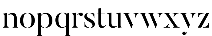 ButlerStencil Font LOWERCASE