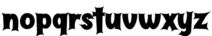 Butter Haunted Font LOWERCASE