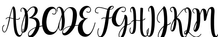 Buttercup Sample Font UPPERCASE