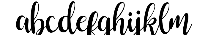 Buttercup Sample Font LOWERCASE