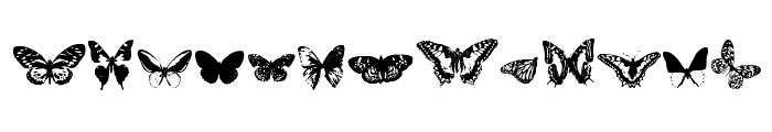 Butterflies by Darrian Font LOWERCASE