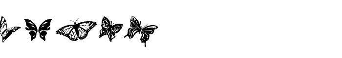 Butterflies Font UPPERCASE