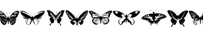 Butterflies Font LOWERCASE