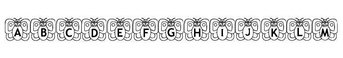 Butterfly In My Garden Font UPPERCASE