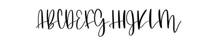 Butterscotch Meringue Font UPPERCASE
