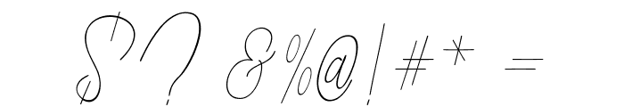 ButtyScript Font OTHER CHARS