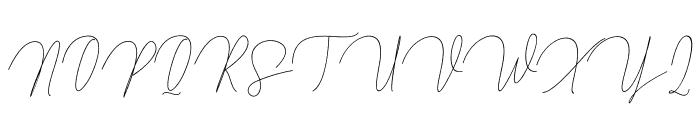ButtyScript Font UPPERCASE