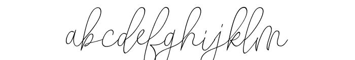 ButtyScript Font LOWERCASE