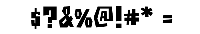 BuzzSaw AOE Font OTHER CHARS