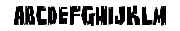 BuzzSaw Chipped AOE Font LOWERCASE