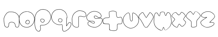 bubbletea hollow Font UPPERCASE