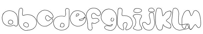 bubbletea hollow Font LOWERCASE