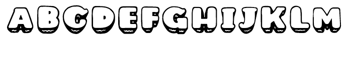 Bubbly Hills Halftone Font UPPERCASE
