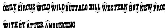 Buffalo Western Catchwords Font UPPERCASE