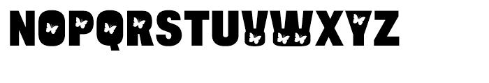 Bulltoad Butterfly Font UPPERCASE
