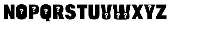 Bulltoad Question Font UPPERCASE