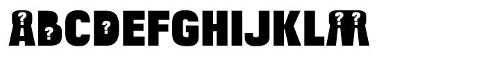 Bulltoad Question Font LOWERCASE