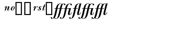 Bulmer Semibold Italic Expert Package Font UPPERCASE