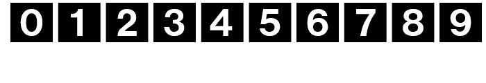 Bundesbahn 1 Font OTHER CHARS