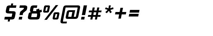Bunken Tech Sans Bold Italic Font OTHER CHARS