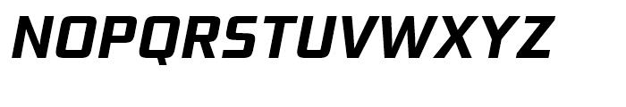 Bunken Tech Sans Bold Italic Font UPPERCASE