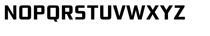 Bunken Tech Sans Bold Font UPPERCASE