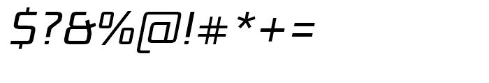 Bunken Tech Sans Book Italic Font OTHER CHARS
