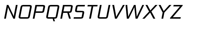 Bunken Tech Sans Book Italic Font UPPERCASE
